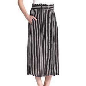 A.L.C. McDermott Stripe Silk Midi Skirt Size 4